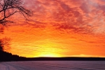 Fiery winter sunrise