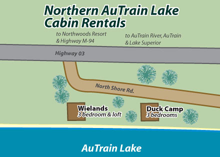 Northern AuTrain Lake Cottage Rentals