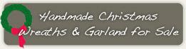 Handmade wreaths and garland