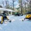 snowmobile from cabin