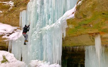ice climbing in Munising