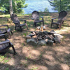 Au Train Lake lodge firepit